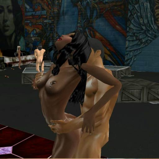 Online virtual worlds for playing 3d sex games